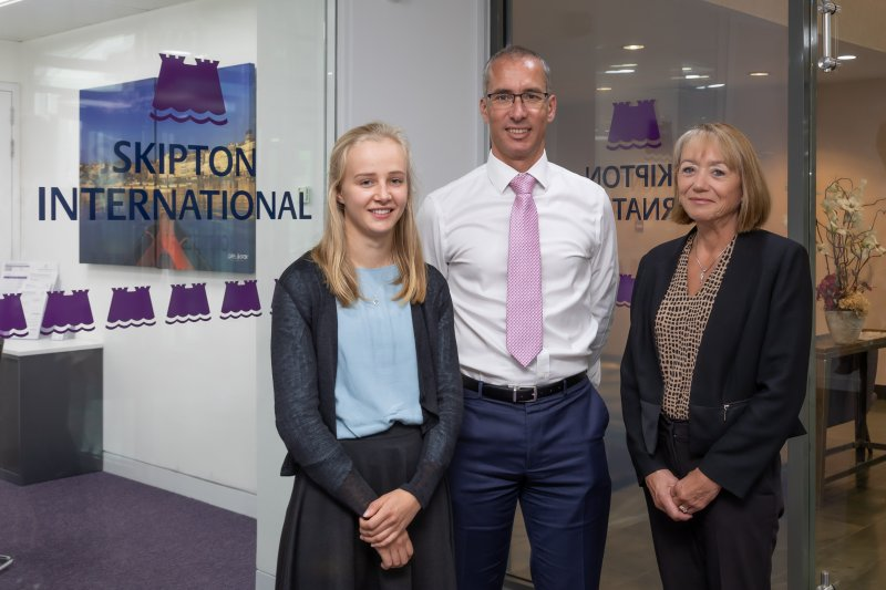 Star student selected for Skipton International bursary