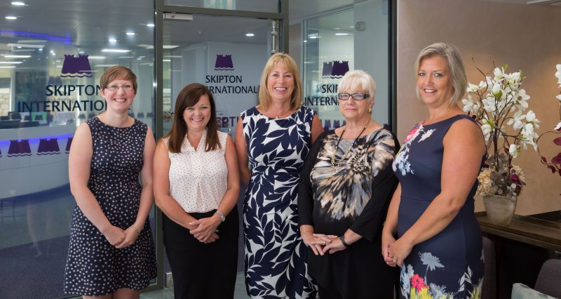 Banking centenary for five Skipton International team members