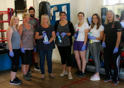 Skipton help boxing club improve their home