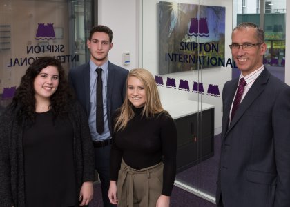Three new A-Level students join Skipton International
