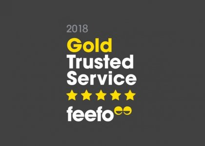 Skipton International awarded Feefo Gold Trusted Service Award 2018